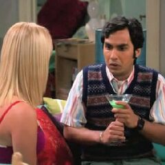 Raj finally talking to Penny.