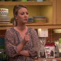 Penny breaks a wine glass in her hand after Sheldon tells her and Bernadette about planning on sleeping with Amy.