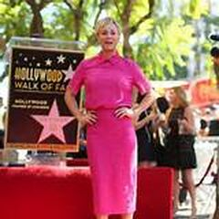 Kaley's star on Hollywood Blvd.
