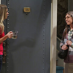 Amy turns up at Penny's door after she heard Penny slept with Raj