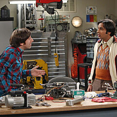 Raj and Howard in Howard's lab.