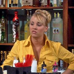 Penny behind the bar.