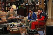 Raj, Howard and Sheldon all playing The Setlers of Catan