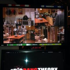 Picture tweeted from the taping.