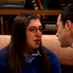 Amy dreaming about Sheldon kissing her.