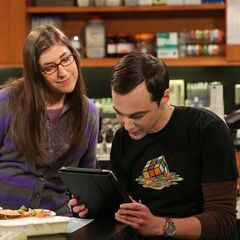 Sheldon playing with Stephen Hawking.