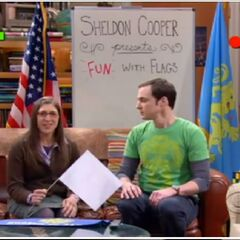 Amy makes an appearance on Sheldon's show.