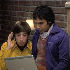 Raj and Howard helping Leonard navigate remotely.