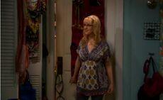 Bernadette trying on dress