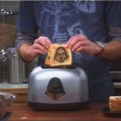 Sheldon's Cylon toast.