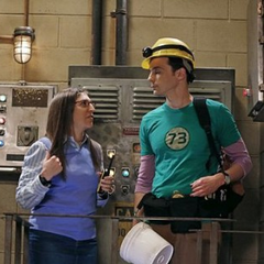 Amy proud of Sheldon facing his fears.