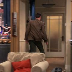 Sheldon running for his room.