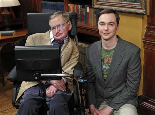 Stephen Hawking with Sheldon Cooper, The Hawking Excitation