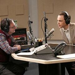Sheldon is being interviewed on NPR.