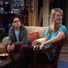 Penny reacting to Sheldon.
