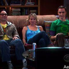 Watching TV with Sheldon.