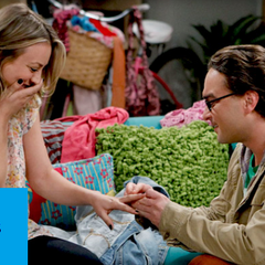 Leonard proposes to Penny and she accepts.