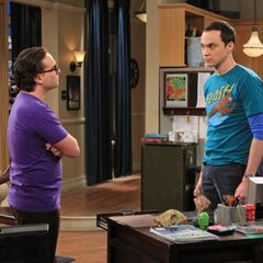 Leonard talking to Sheldon about being annoying.