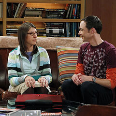 Sheldon and Amy at his apartment.