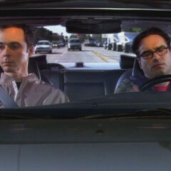 Sheldon and Leonard heading to work.