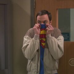 Sheldon walking into a contamination ward.