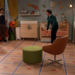 Howard to demonstrate his nursery floor path.