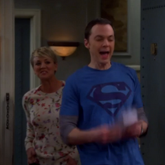 Sheldon surprised by his party.