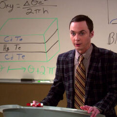 Sheldon's lecture disaster.