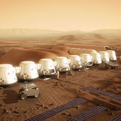 First colony on Mars illustration.