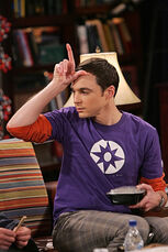 The Spaghetti Catalyst - Sheldon holding the L sign