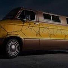 Feynman van on the set.