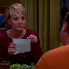 Penny wrote down all about Leonard's work.