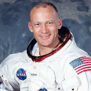 Astronaut Buzz Aldrin NASA portrait.