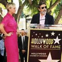 Kaley's star with Chuck Lorre.