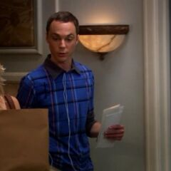 Penny talking to Sheldon about Leonard.