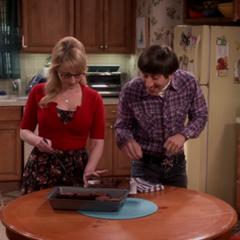 The furious Bernadette is making brownies.