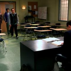 Sheldon's empty classroom.