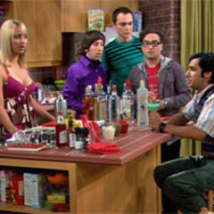 The group is shocked to see Raj speaking in front of Penny.