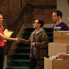 Sheldon and Leonard meet their new upstairs neighbor.