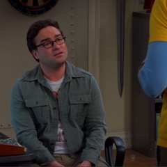 Sheldon trying to break the bad news to Leonard.