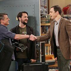Sheldon meets Adam.