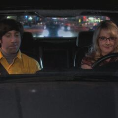 Bernadette driving.