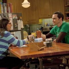 Amy and Sheldon planning on a gossip to spread
