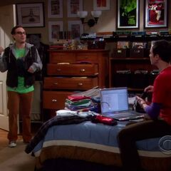 Leonard leaving since Sheldon is busy tagging.