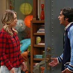 Raj is mad at Penny for talking to Lucy.