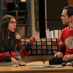 Amy giving Sheldon advice.