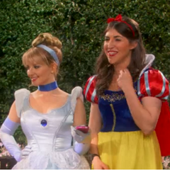 Two princesses talking science to female students.