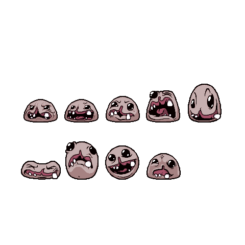 Monstro's sprite sheet from <i>Rebirth</i>.