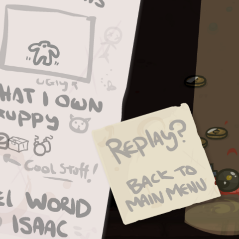 A Hopper shown on Isaac's Last Will upon being killed by a Trite.