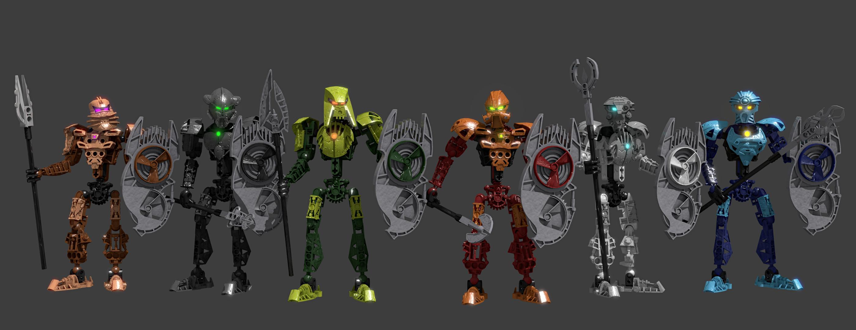 toa hagah with 3d printed masks bioniclelego